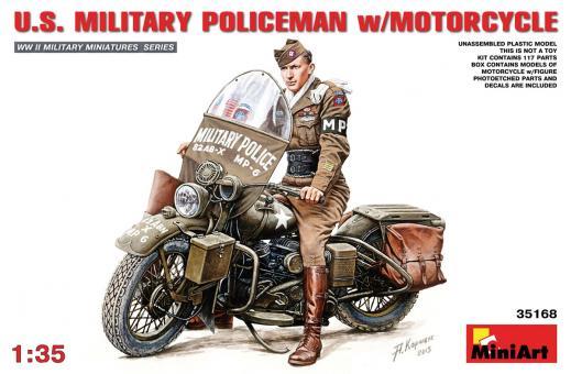 US Militärpolizist mit Motorrad