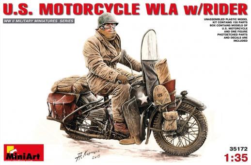US Motorrad WLA mit Fahrer