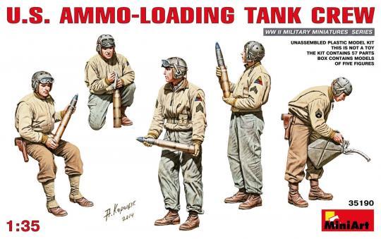 US Panzersoldaten beim Munition-Laden
