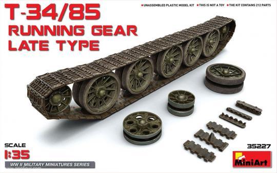 T-34/85 Panzerketten und Räder - später Typ