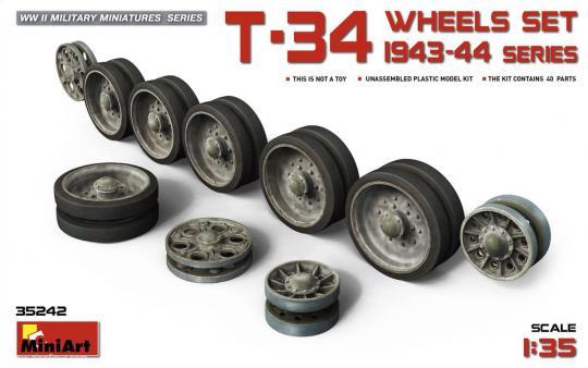 T-34 Räderset - 1943-44 Serie