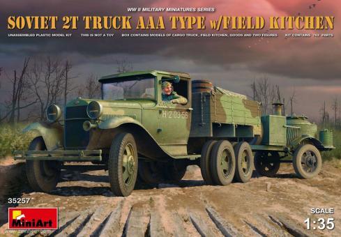 Sowjetischer 2t Lkw AAA mit Feldküche
