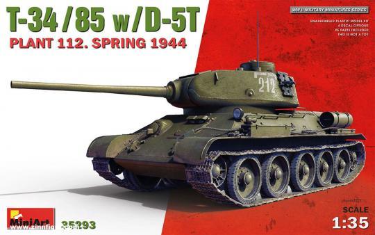 T-34/85 mit D-5T - Fabrik 112 - Frühling 1944