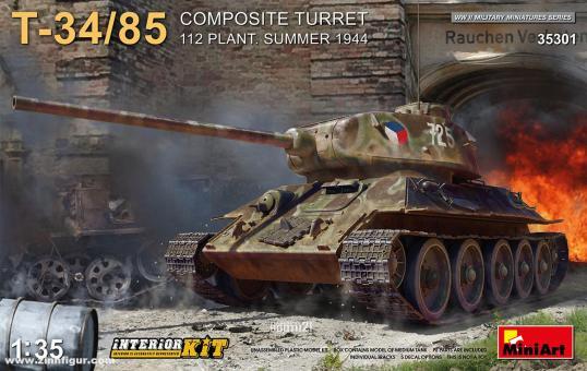 T-34/85 mit Komposit-Turm Fabrik 112 - Sommer 1944