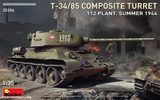 T-34/85 mit Komposit-Turm - 112 Fabrik - Sommer 1944