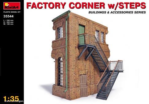 Fabrik-Ecke mit Treppe