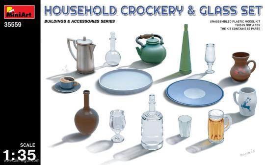 Geschirr, Gläser und Flaschen