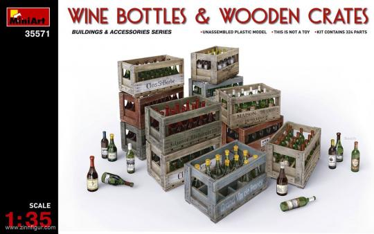 Wine Bottles & Wooden Boxes
