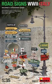 Strassenschilder - Italien - 2. Weltkrieg