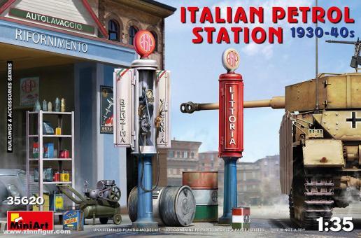 Italienische Tankstelle - 1930er-40er Jahre