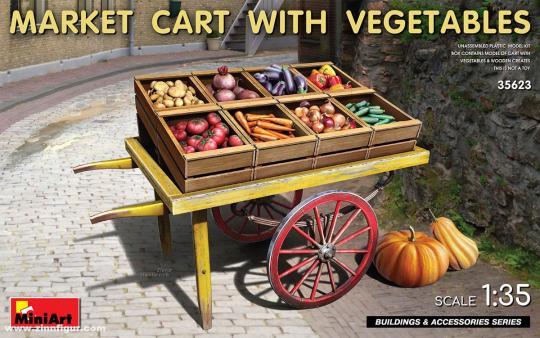Markt-Karren mit Gemüse