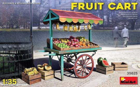 Markt-Karren mit Obst