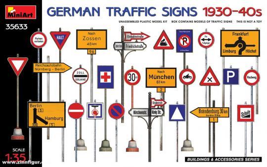 Deutsche Verkehrsschilder 1930er-4er Jahre
