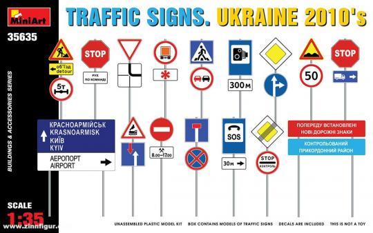 Verkehrsschilder - Ukraine 2010er Jahre