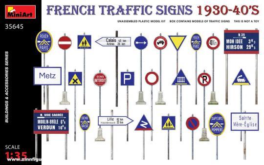 Französische Verkehrsschilder - 1930er-40er Jahre