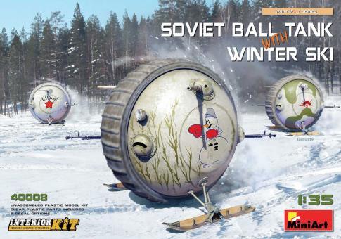 Kugelpanzer mit Winter-Ski