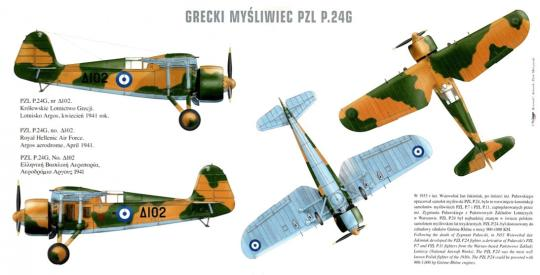 PZL P.24 G Griechenland 1940/41