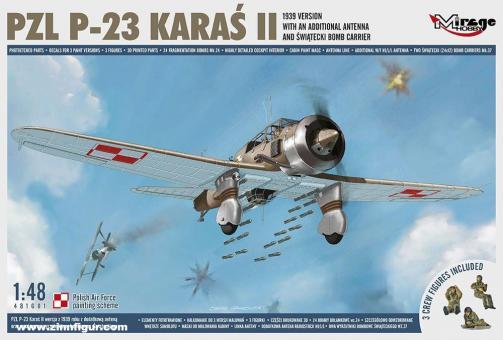 PZL P-23 KAras II mit Zusatzantenne - 1939