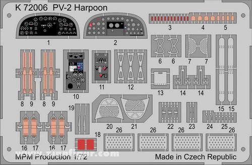 PV-2 Harpoon Etched Parts
