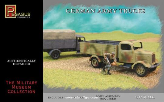 German Army Trucks WW2 (2 per box)