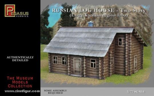 Russian storey log house 1 piece