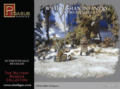 Russische Infanterie im Mantel 2. Weltkrieg