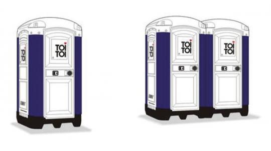 """Toilettenkabinen """"TOI TOI"""""""