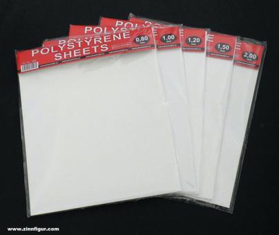 2 Polystyrolplatten - 0,8 mm