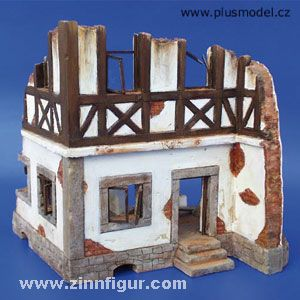 German half-timbered house ruin
