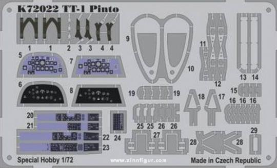 TT-1 Pinto Etched Parts, coloured