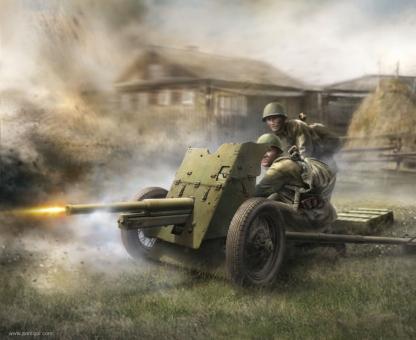Sowjetisches 45 mm Geschütz Wargame Add-On