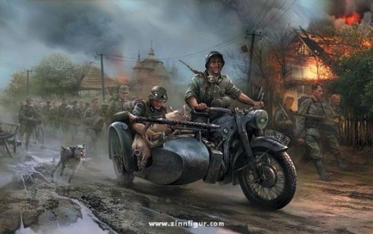 German Motorcycle M-12 Wargame AddOn