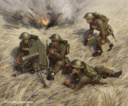 British Machine Gun with Crew 1939-42 - Wargame Add-On