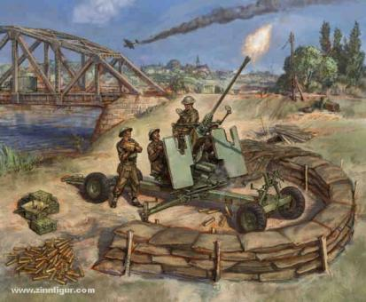 British Bofors 40mm Mk.2 AA-Gun Wargame Add-On