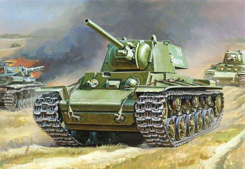KV-1 mit F-32 Geschütz Wargame Add-On