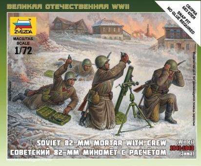 Sowjetischer 82 mm Mörsertrupp (Winter) Wargame Add-On
