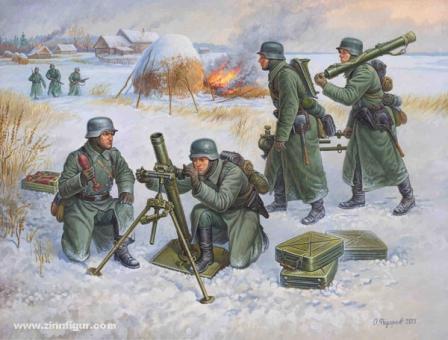 Deutscher 80 mm Mörser-Trupp (Winter) Wargame Add-On