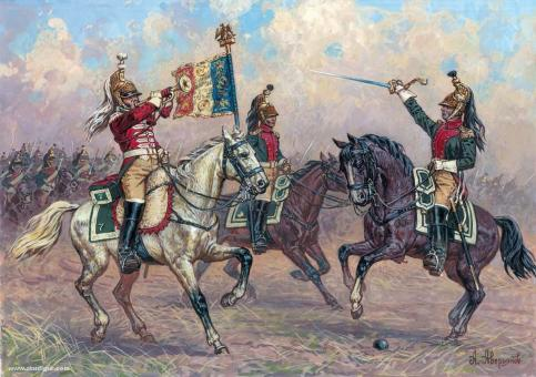 French Dragoon Command Group