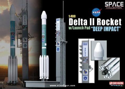 "Delta II Rakete ""Deep Impact"" mit Startrampe."