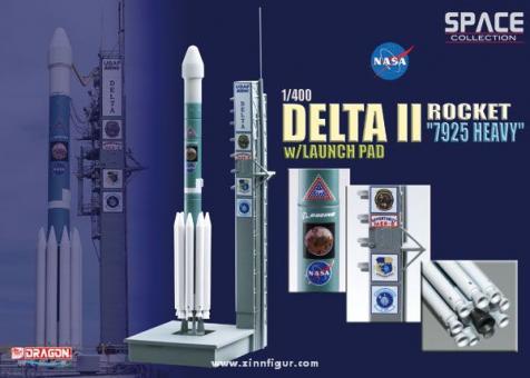 """Delta II Rakete """"7925 Heavy"""" mit Startrampe"""
