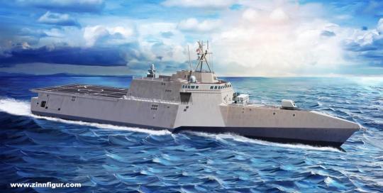 USS Gabrielle Giffords LCS-10 mit Naval Strike Missiles NSM