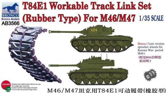 T-84E1 bewegliche Kettenglieder M46/M47 (Gummi Typ)