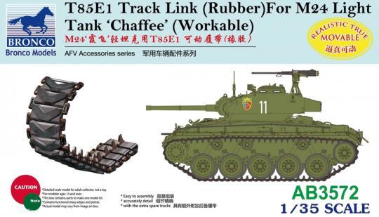 T85E1 Kettenglieder (Gummi) für M24 Chaffee