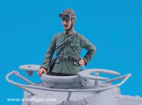 Japanischer Panzerkommandant