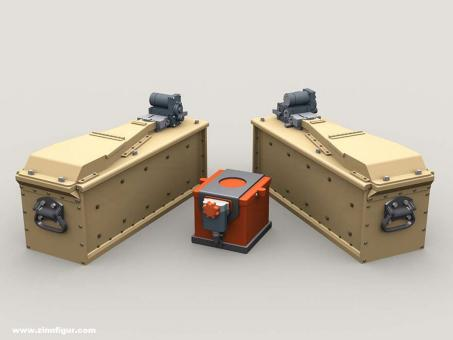 M134 Minigun 3,000 round 3-Bay Ammo Box with Battery Set