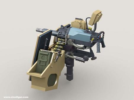 MK47 Striker 40 mm AGL w LVSII Sight, on SAG Mount