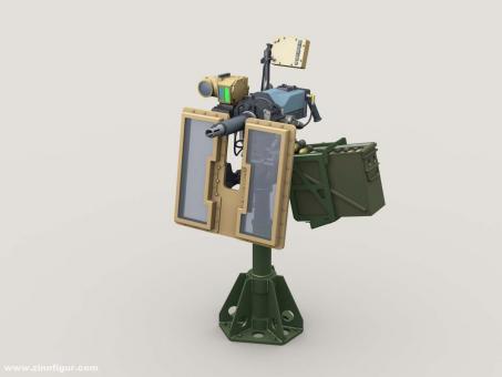 MK47 Striker 40mm AGL w LVSII Sight onUniversal HG Pedestal Mount w/ Transparent Gun Shield