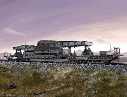 Eisenbahn-Transporter für Karl-Gerät