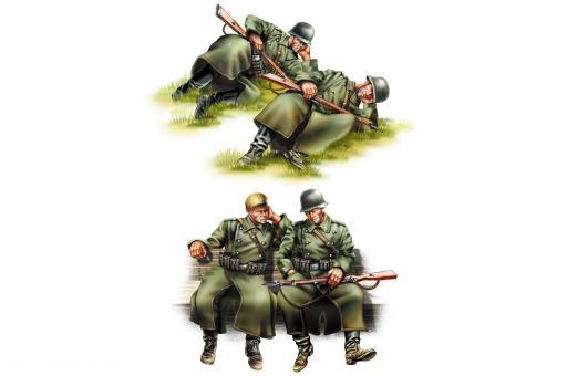 Deutsche Infanterie - rastend