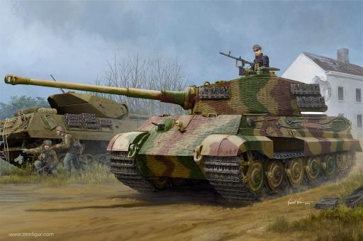 Pz.Kpfw.VI Sd.Kfz. 181 Tiger II Henschel - 1944 Produktion mit Zimmerit